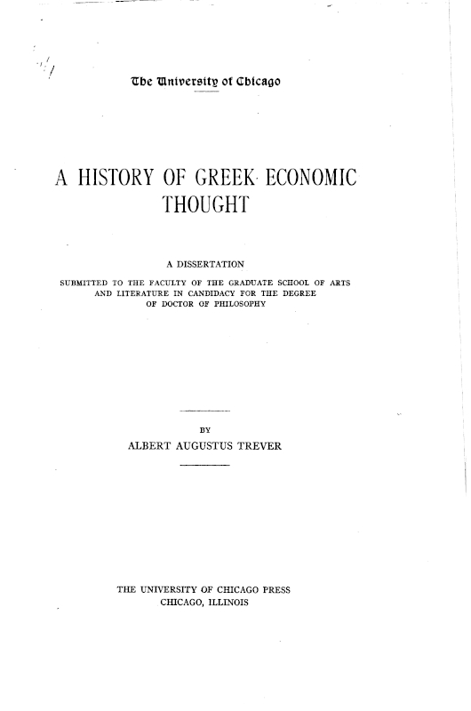 The Project Gutenberg Ebook Of A History Of Greek Economic