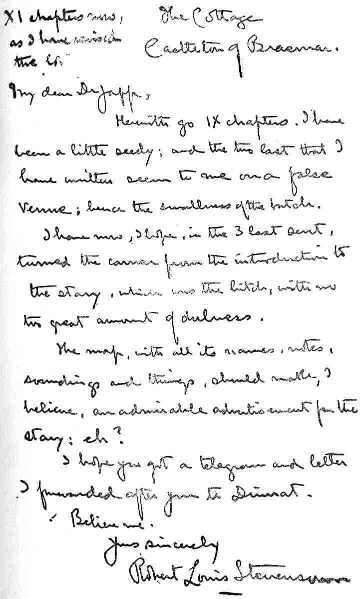 Manuscript Letter By Rls