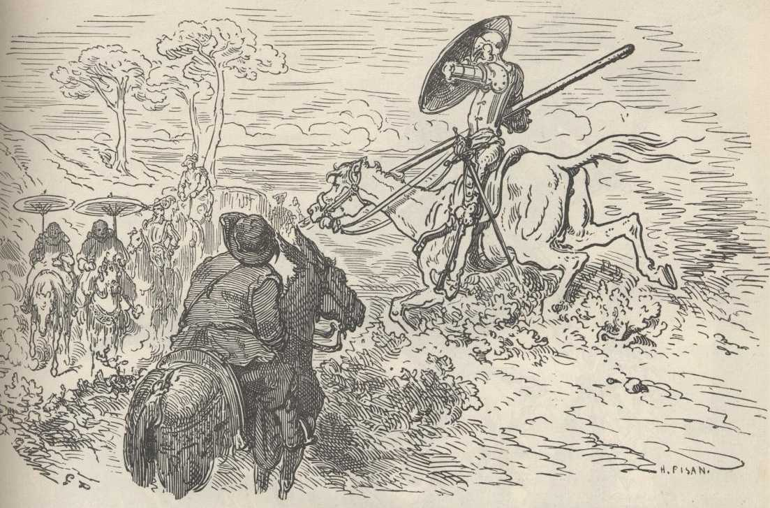 the history of don quixote by cervantes vol i part  at this point they came in sight of thirty forty windmills that there are on plain and as soon as don quixote saw them he said to his squire