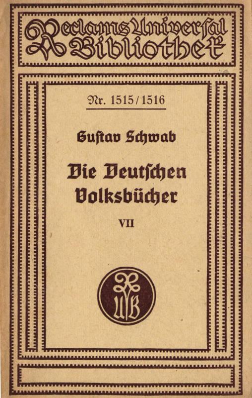 The Project Gutenberg Ebook Of Die Deutschen Volksbücher 7
