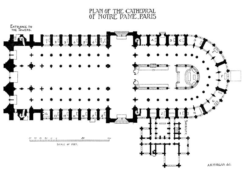 The Project Gutenberg Ebook Of Bell S Handbooks To Continental Churches Notre Dame De Paris By Charles Hiatt