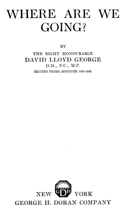 The Project Gutenberg eBook of Where Are We Going?, by David
