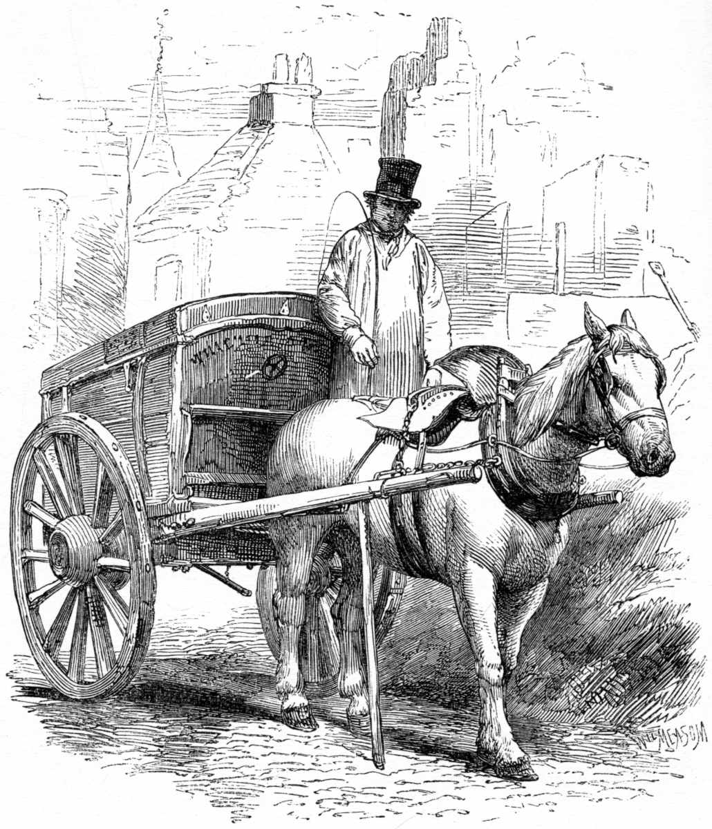 NEW YORK CITY MOVING DAY PAYING THE PIPER HOUSEKEEPING HORSE WITH FULL CART LOAD