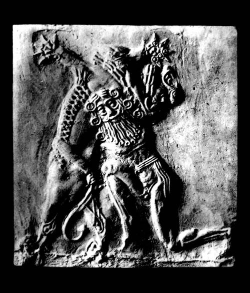 Izdubar (Nimrod) in conflict with a lion