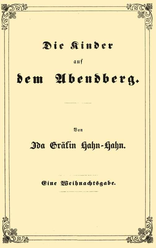 The Project Gutenberg eBook of Die Kinder auf dem Abendberg