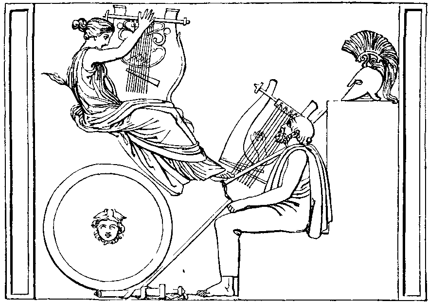 Illustration: HOMER INVOKING THE MUSE.
