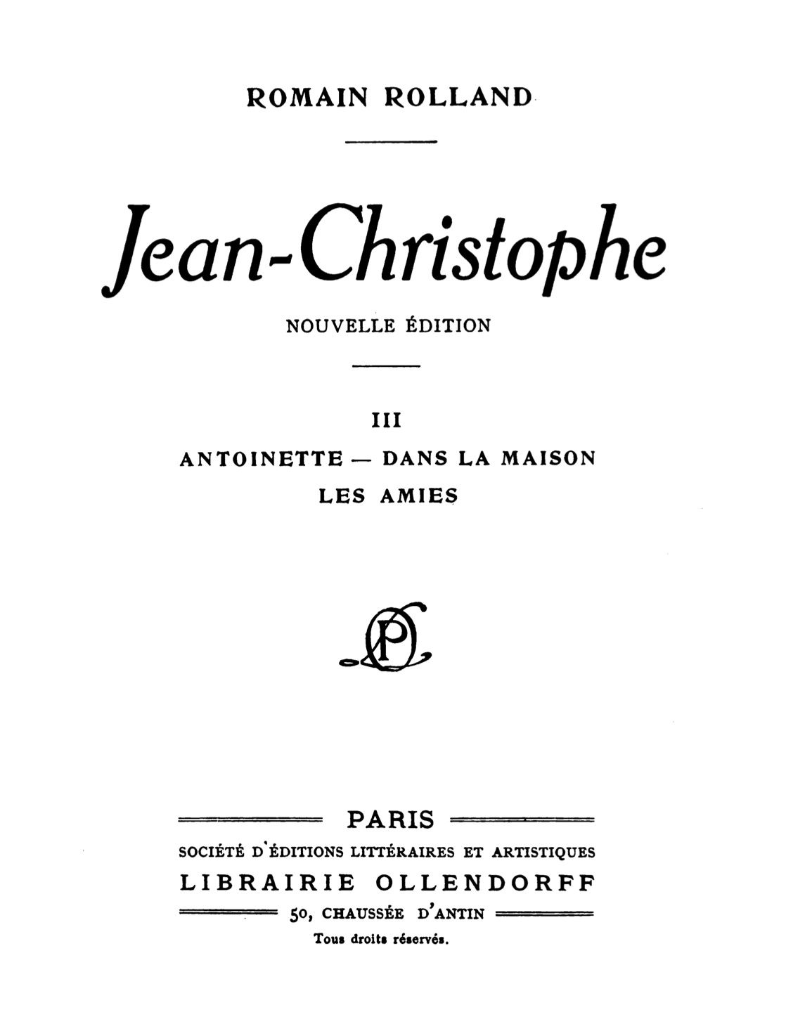The Project Gutenberg Ebook Of Jean Christophe Volume 3 Of 4 By Romain Rolland