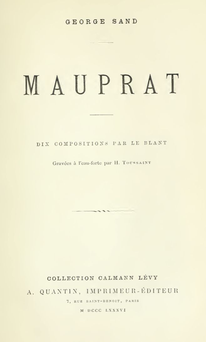 The Project Gutenberg Ebook Of Mauprat By George Sand