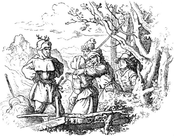 Junger Ebenholz alter weißer Mann