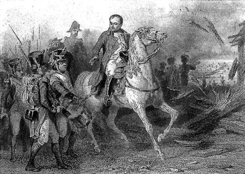 Napoléon au Passage de L'Elbe.