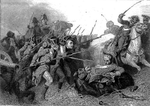Les conscrits de 1813 au combat de Weissenfels.