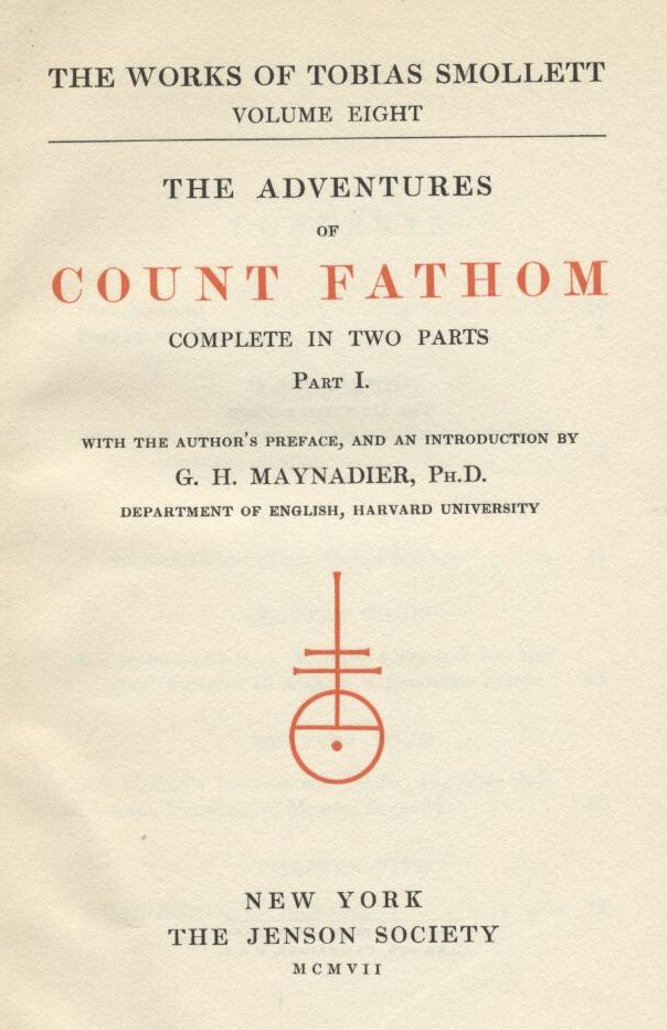 ed6a95a524df5 The Adventures of Ferdinand Count Fathom