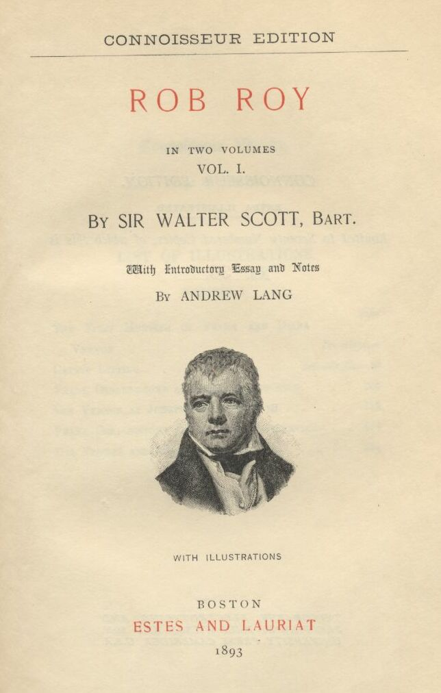 ROB ROY, COMPLETE by Sir Walter Scott