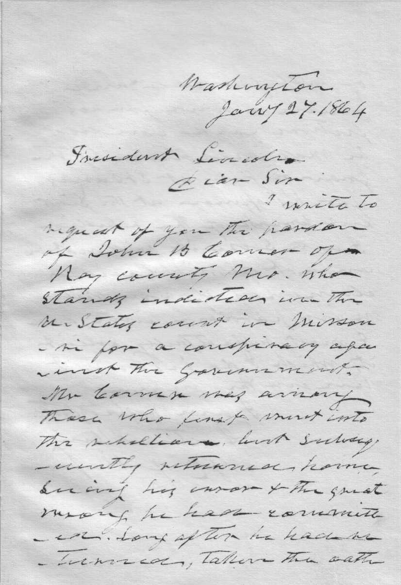 Lincoln letters by abraham lincoln 05 request for a pardon spiritdancerdesigns Gallery